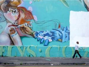Arte callejero en Cape Tpwn, Sudáfrica. Imagen: candinski en Flickr (2005)