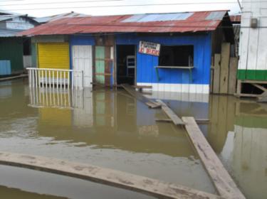 Casa inundada en Riosucio