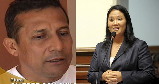 Kandidati Oljanta Umala i Keiko Fudžimori. Fotografije: TVCultura (CC BY-NC-SA 2.0) i Kongres Republike (CC BY 2.0)