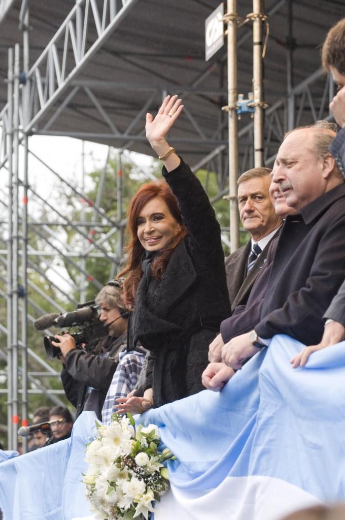Kristina Fernandes,predsednica Argentine i Ermes Briner,opozicioni kandidat za predsednika; fotografija- Lora Šnajder