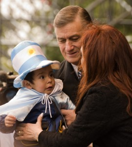 Hermes Binner with Cristina F. de Kirchner. Foto di Laura Schneider