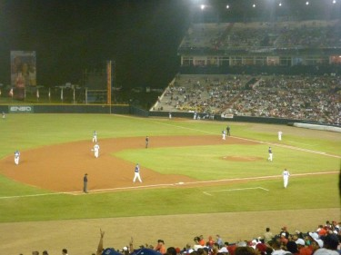 Panama beat Greece 8-3 in the opening game. Photo: Ana Rut Moreno, used with permission.