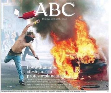 Prima pagina del giornale ABC