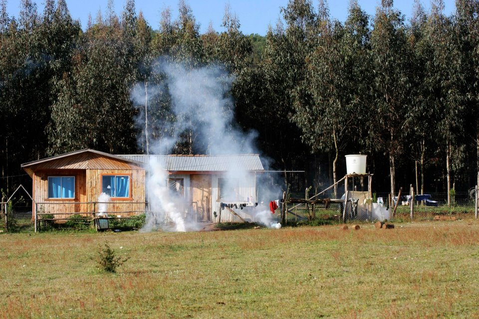 Police used tear gas in Mapuche community