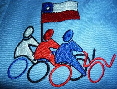 Embroidered Logo for the Recyclers of Chile. Photograph by Chilean Recyclers, imaged used with permission