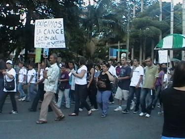 Marcha pacifica en Sabaneta, Foto Lully