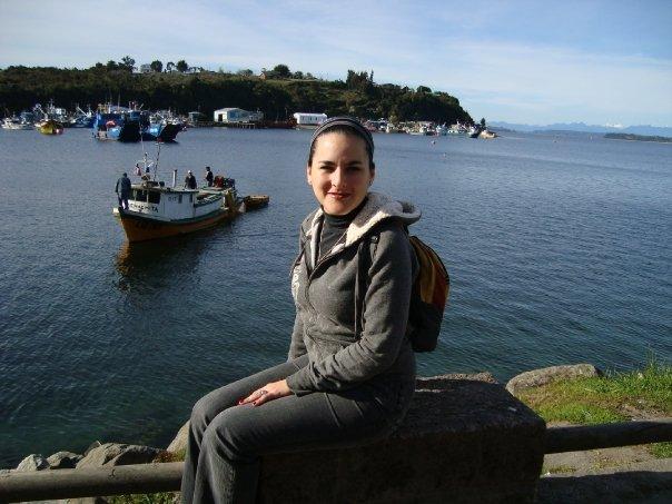 Elizabeth Rivera en Angelmó, Puerto Montt, Chile, 2010