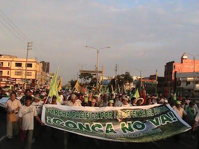 La Marcha del Agua en Casma