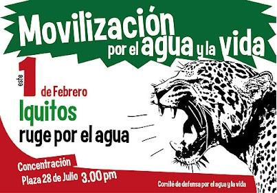 Mobilization for water and life, this February 1 Iquitos roars for water.