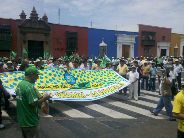 Marcha del Agua en Trujillo