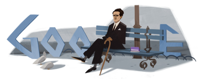 Google's doodle for the 120th anniversary of the birth of César Vallejo