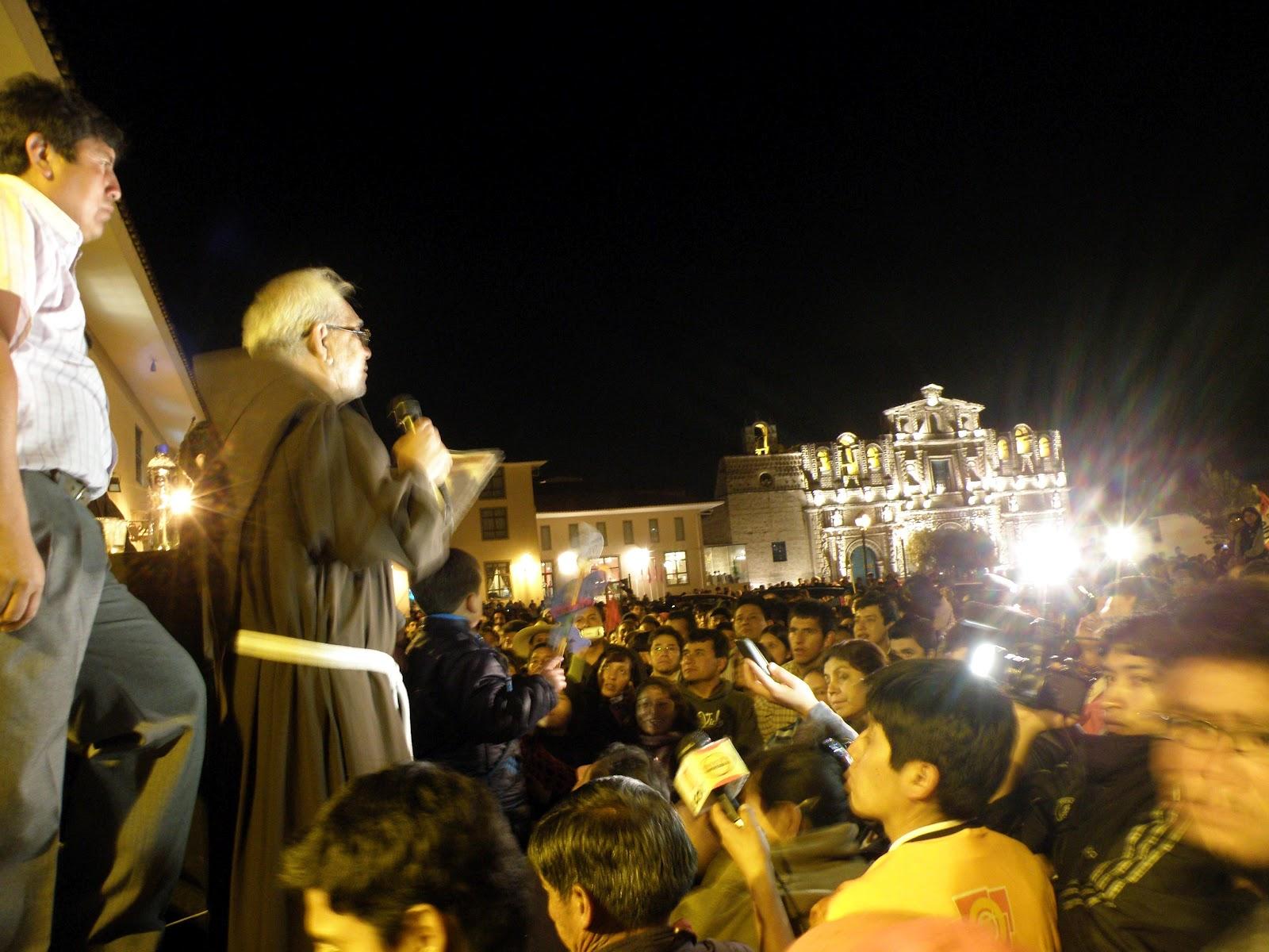 Vigilia en Cajamarca