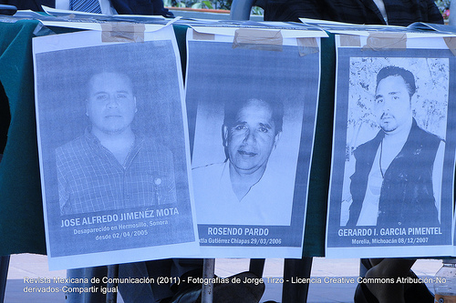 Missing journalists - In memory of Manuel Buendía, 27 years of age, and his assassination on May 20, 2011. Photograph: Jorge Tirzo (CC BY-NC-SA 2.0)