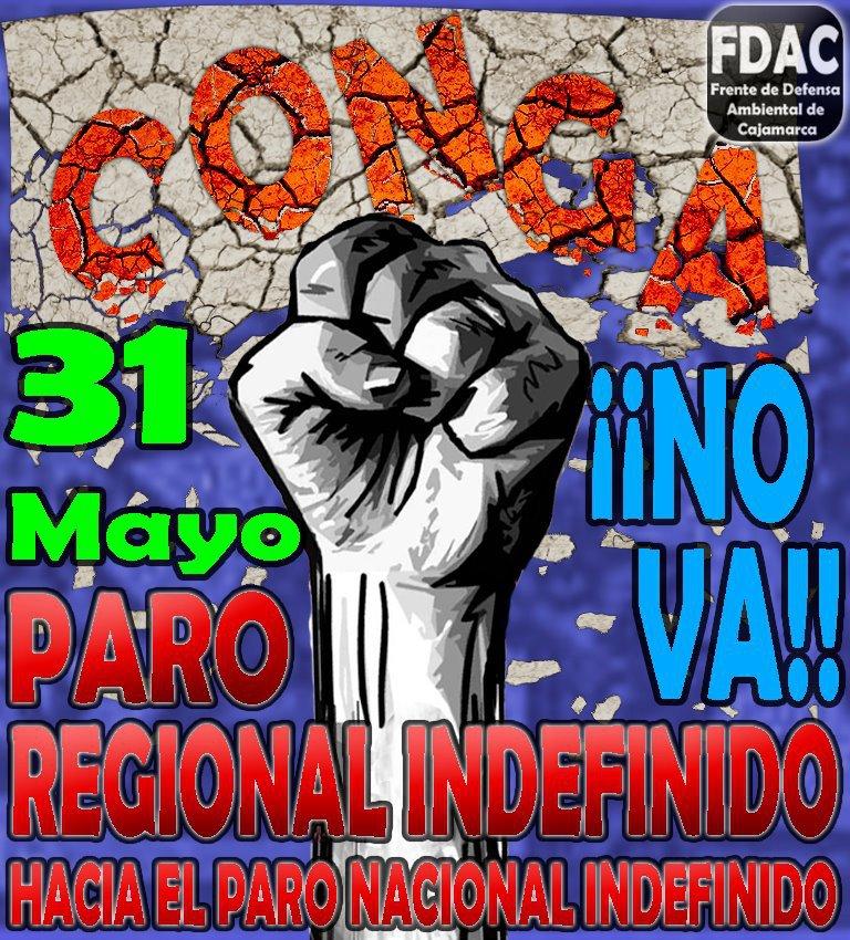 31  de Mayo - Paro en Cajamarca