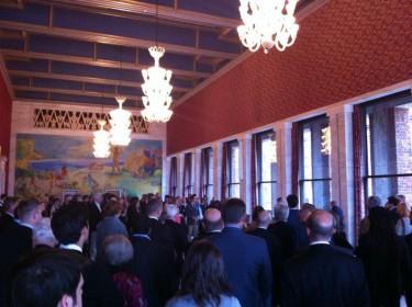 Recepción en el ayuntamiento de Oslo