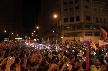 Черният марш минава през Мадрид. Снимка от Исмаел Наранхо.