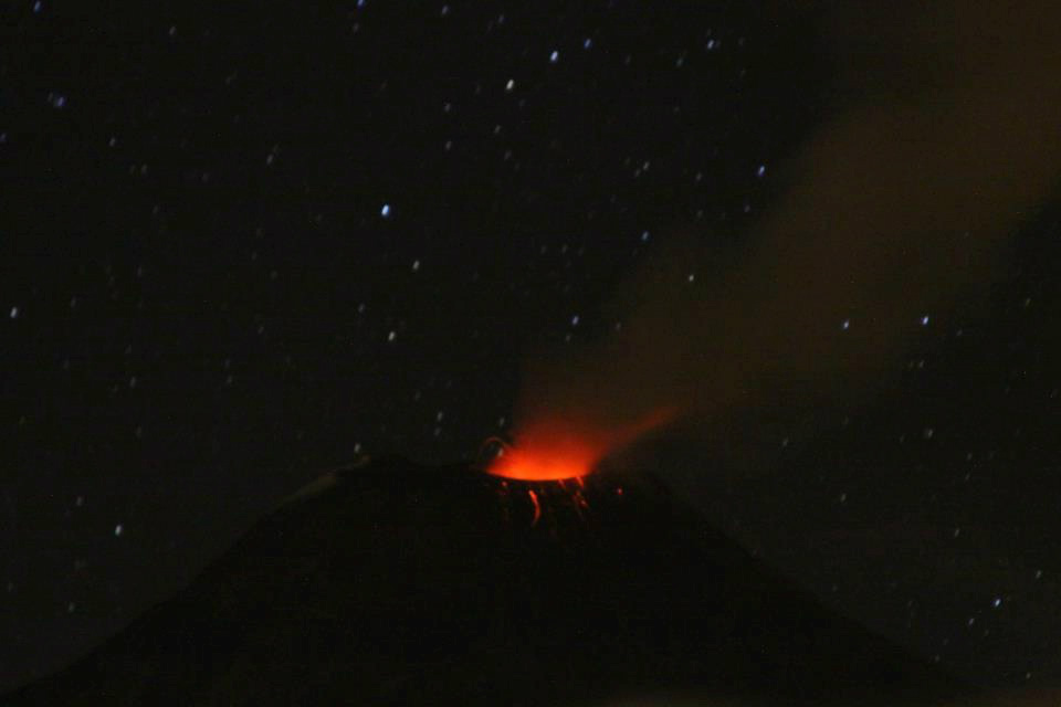 Tungurahua Volcano, August 12, 2012. Photo shared by Twitter user @IGecuador.
