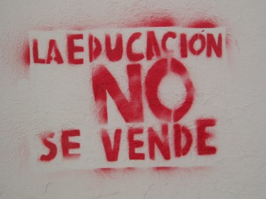 """Education is not for sale"""