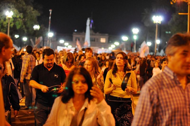 Odbywający się w Buenos Aires marsz przeciwko rządom prezydent Cristiny Kirchner