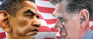 Obama-Romney: The face-off Latinos are waiting for. Photo courtesy of DonkeyHotey/Flickr (CC BY 2.0)