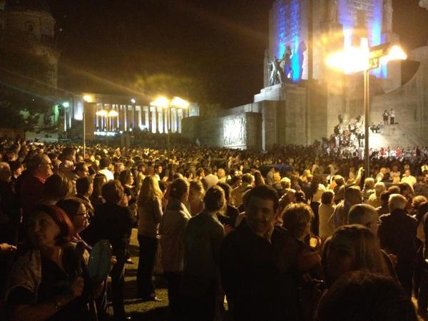 Marcia nella città di Rosario - Immagine dell'utente Twitter @meindol