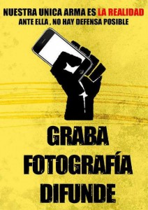 Promotion of the practices of citizen journalism during the protests