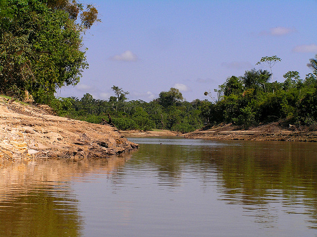 Nanay river close to the city of Iquitos. Photo by Pierre Pouliquin on Flickr published under Creative Commons Attribution 2.0 Generic  non-commercial license.
