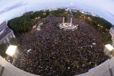 Protests from 25th-29th September in Madrid. Photo from the Facebook page of Redes Quinto Poder.