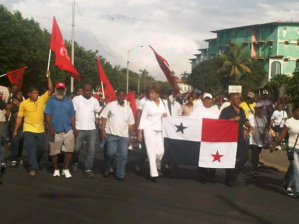 Protesta en Colón