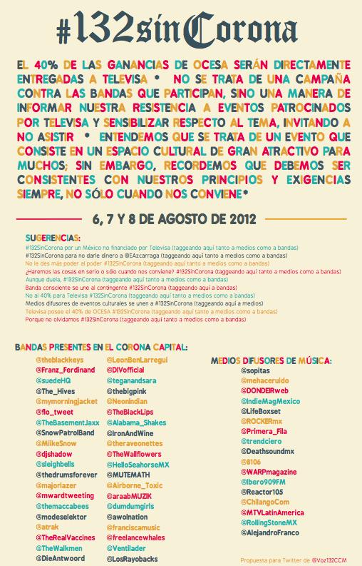 Afiche de #132sinCorona