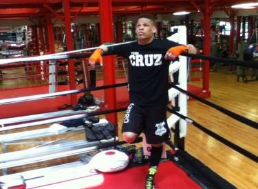 Boxeador Orlando Cruz. Foto tomada de su página de Facebook.