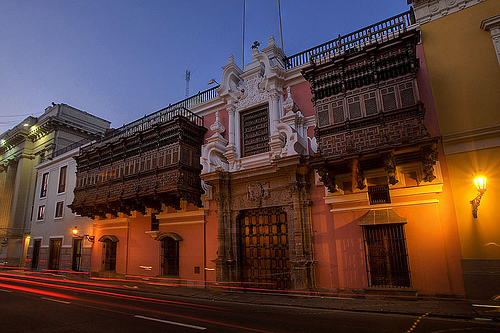 Imagen de la Torre Tagle, el edificio de la cancillería en Lima,