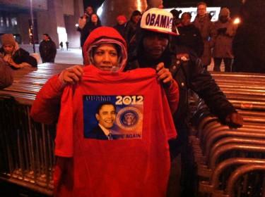 Algunos ya llegaban con accesorios indicando cuatro años más con Barack Obama