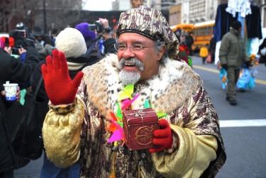 """Jesús """"Papoleto"""" Melendez, poeta nacido y criado en El Barrio, fue elegido como rey emerito de la parada."""