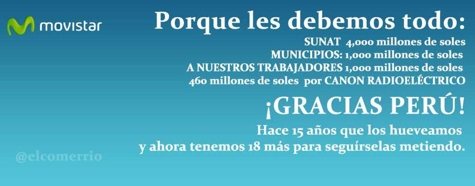 Imagen de la página de Facebok El Comerrio