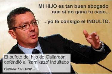Alberto Ruiz-Gallardón, ministro de justicia. Imagen de la página de facebook «Por la eliminación de la mitad de los puestos políticos en España»
