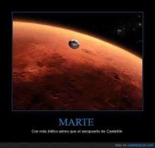 Marte con más tráfico aéreo que el aeropuerto de Castellón. Imagen de Cuánta Razón.