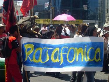 Protesta contra Telefónica en Arequipa