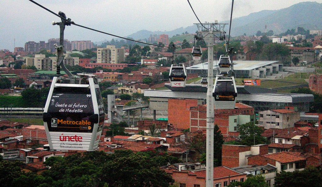 The Metrocable System in Medellín by Álvaro Ramírez on Flickr, with the permission of Creative Commons 2.0