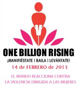 Cartel de la jornada One Billion Rising en español