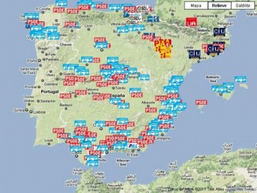 Map of the political corruption in Spain. By Corruptódromo. Used under CC BY-SA.