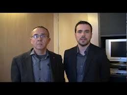 Joan Coscubiela y Álberto Garzón, los dos diputados que pusierone en marcha la iniciativa #OpenDraghi