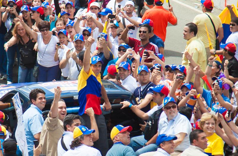 Henrique Capriles en Caracas, 30 de septiembre, 2012. Foto de Alejandro Rustom, Copyright Demotix.