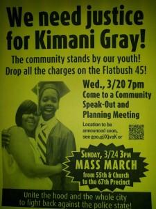 Se convoca a una gran marcha en protesta por la muerte de Kimani Gray.
