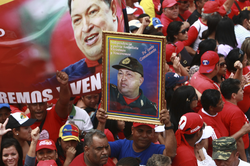 Miles marcharon en apoyo al presidente Chávez en enero, mientras seguía bajo tratamiento en Cuba. Foto de Jesus Gil, copyright Demotix