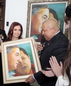 Cristina Fernández de Kircher con Hugo Chávez, 1 de diciembre 2011. Imagen compartida por el usuario de Flickr chavezcandanga bajo licencia Creative Commons (CC BY-NC-SA 2.0)
