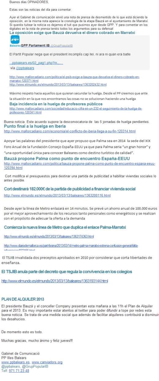 Captura del correo filtrado. Imagen del blog diseccionandoelpais con licencia CC BY-NC-SA 3.0 ES