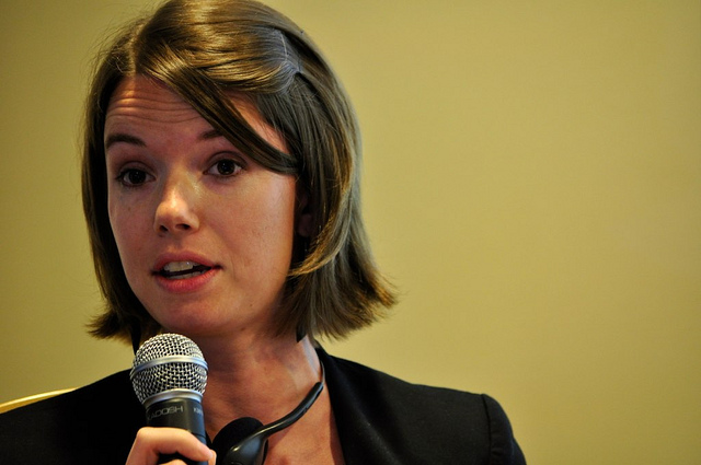 Ellery Biddle en el RightsCon Rio 2012. Foto de Jim Killock en Flickr.
