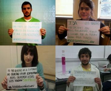 Jóvenes en condiciones precarias. Foto tomada con permiso de la web gritopolítico.es