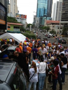 Venezuelans voting in Panama. Photo @Yacare45 Twitter.